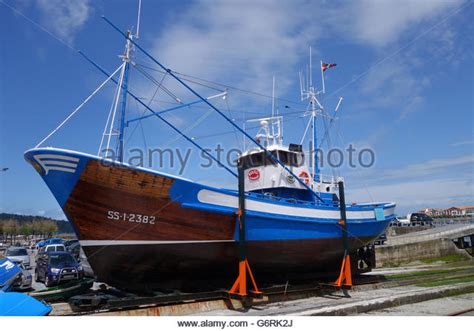 to dock a boat in spanish dry dock fishing boat stock photos dry dock fishing boat