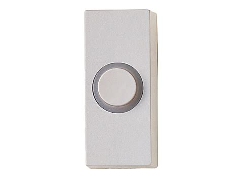 The Door Bell by Friedland Illuminated White Door Bell Push D534w Wired