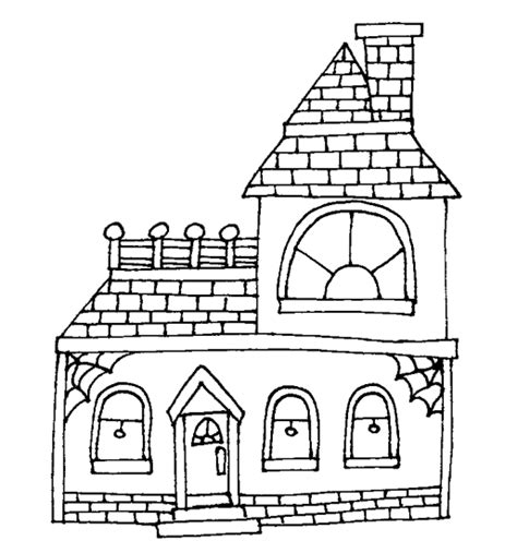 haunted house coloring coloring pages