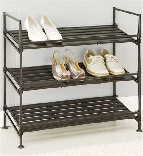 3 Shelf Shoe Rack by Shoe Rack 3 Shelf In Shoe Racks