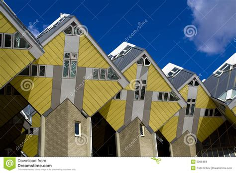 Houses Plan by Case Cubiche A Rotterdam Immagini Stock Immagine 5066484