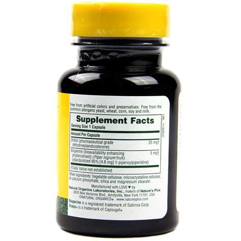 Natures Plus Dhea 25 nature s plus dhea 25 25 mg 60 capsules evitamins
