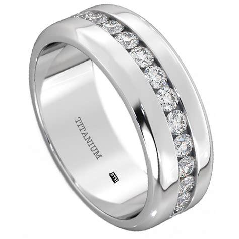 mens titanium wedding engagement band ring