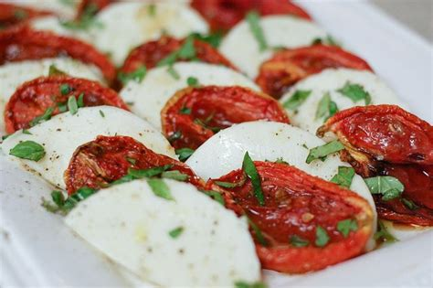 roasted tomatoes ina garten caprese for salad sandwiches for baptism entertaining