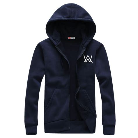 Jaket Hoodie Cewek Jaket Hoodies Outwear Hoodies alan walker dj set mens hoodies outerwear electronic brand zipper hooded fashion casual
