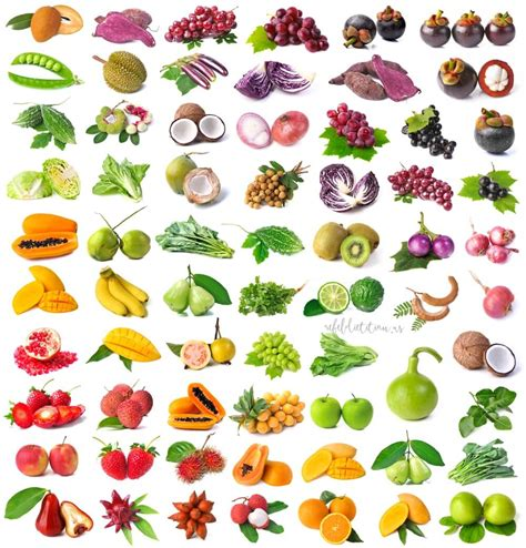 2 fruits and 5 vegetables rainbow of fruits and vegetables pictures to pin on