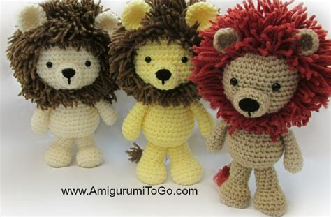 amigurumi pattern lion little bigfoot lion 2014 amigurumi to go
