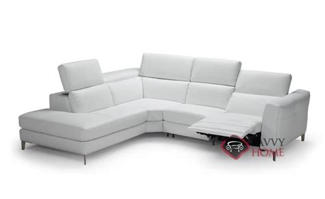 natuzzi leather power reclining sectional como b900 leather chaise sectional by natuzzi is fully