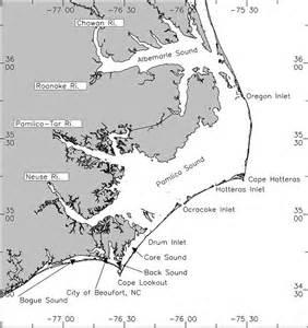 map of carolina coastline sea level rise modeling