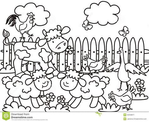 free coloring pages barnyard animals drawn farm coloring book pencil and in color drawn farm