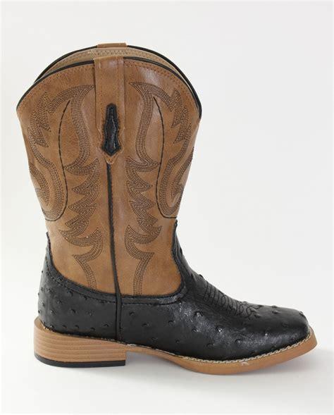 boys square toe boots roper 174 boys faux ostrich v square toe boots child