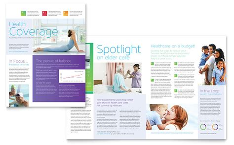 Medical Insurance Newsletter Template Word Publisher Insurance Newsletter Templates