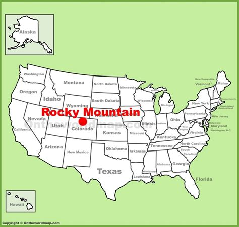 united states map rocky mountains rocky mountain national park location on the u s map