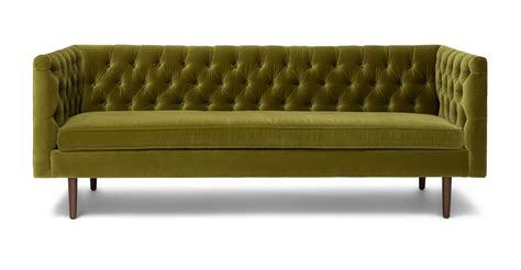 article furniture chester olive green sofa sofas article modern mid