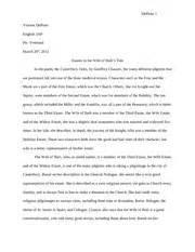 Canterbury Tales Essay Questions by Canterbury Tales Essay Depinto 1 Vincent Depinto 3ap Mr Vreeland March 20th 2012