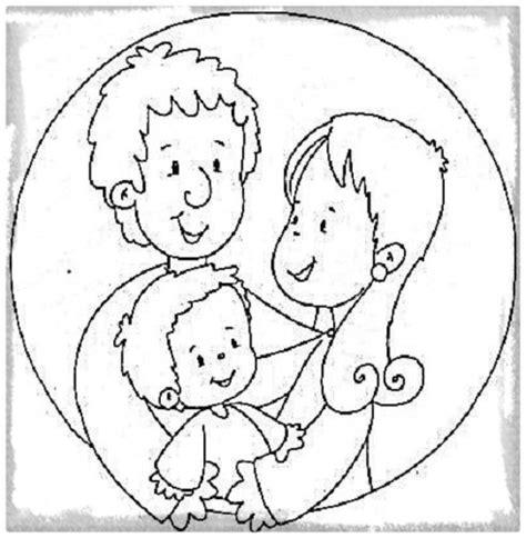 imagenes para colorear la familia descargar dibujos para colorear sobre la familia