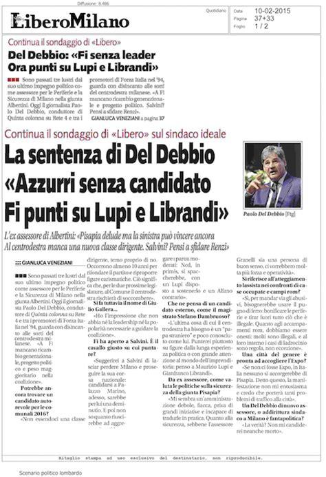 libero quotidiano italia libero quotidiano del debbio quot forza italia punti su