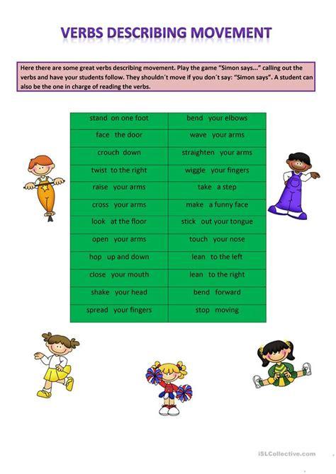 verb pattern after collective nouns verbs describing movement worksheet free esl printable