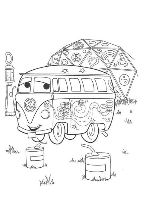 fillmore  disney cars coloring page  print