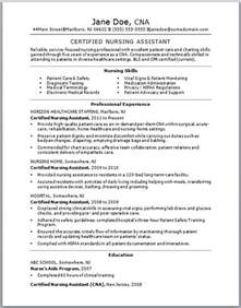Nursing Assistant Resume Qualifications Cna Resume Skills Ingyenoltoztetosjatekok