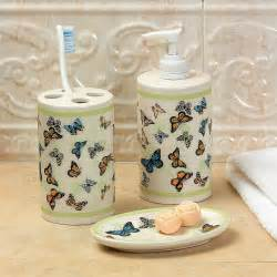 Bathroom Set Butterfly Home Decor Accents Decorations Accessories
