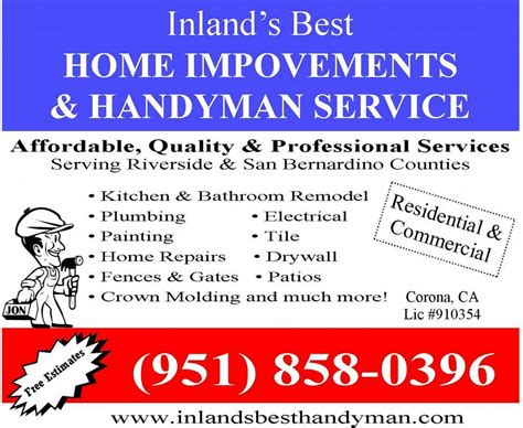 yellowbook handyman ad from inland s best home