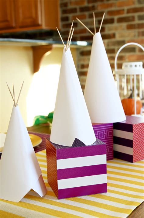 Make A Teepee Out Of Paper - diy teepee craft and centerpiece paging supermom