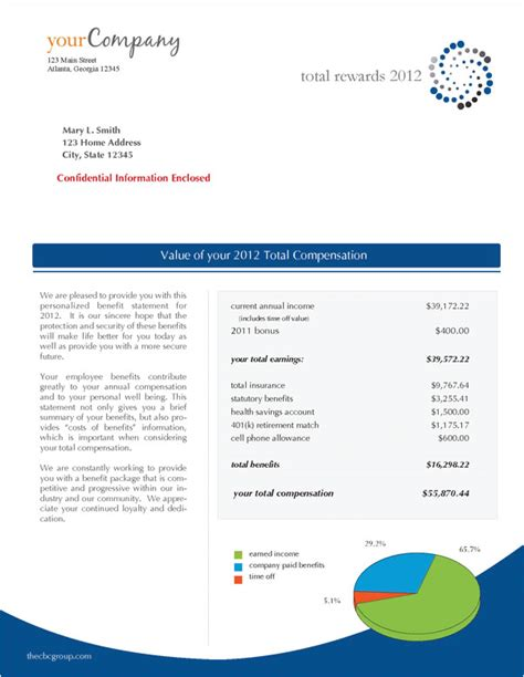 total compensation statement template free total compensation statement templates go