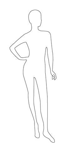 Mannequin Outline by How To Sketch Fashion Design Mannequin Outline For Drawing Or Colouring In Fashion Design