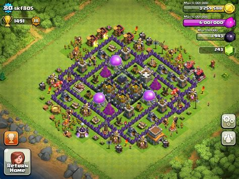 layout village clash of clans clash of clans town hall 8 layout clash of clans