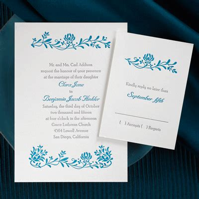 simple but pretty wedding invitations occasions to candlelight collection wedding