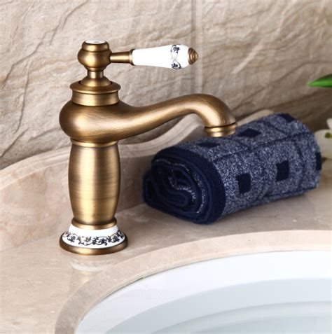 retro bathroom taps antique brass basin faucet bathroom taps vintage bath