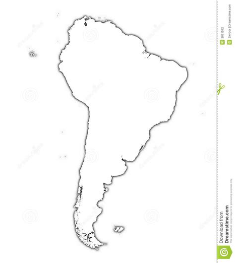 South And America Map Outline by South America Map Stock Photography Image 3861572