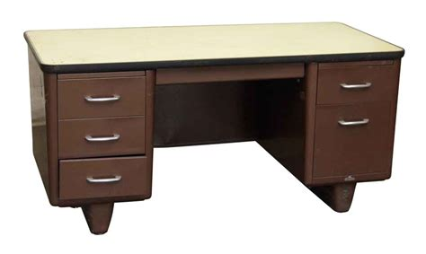 Metal All Steel Office Desk Olde Good Things Steel Office Desk