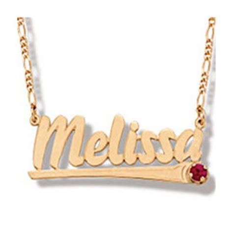 solid gold name necklace nameplate necklace