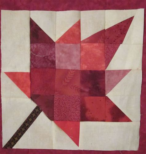 Maple Leaf Quilt Pattern by With Design Techniques Using Graph Paper And Eq7