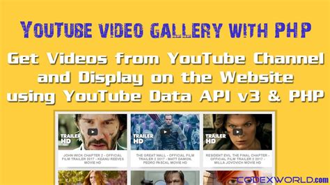 php tutorial youtube channel get videos from youtube channel using data api v3 and php