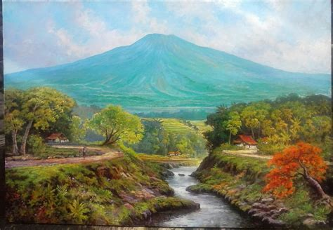 Lukisan Pemandangan Pegunungan lukisan pemandangan pelukis kuat casmoro