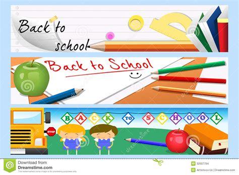 banner design of school back to school banners stock vector image of vector