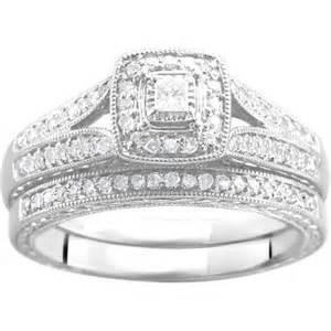 wedding ring sets walmart 1 3 carat t w bridal set in argentium silver