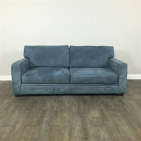 swade couch blue suede sofa