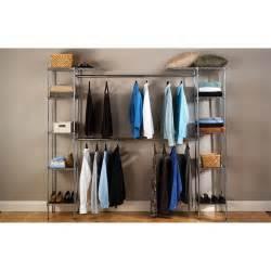 closet shelves walmart seville classics expandable closet organizer she05813bz