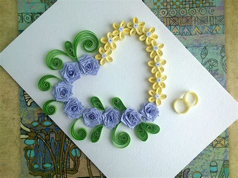 how to make wedding card paper wedding cards make paper quilling wedding card with