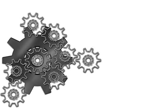 Engineering Gears Backgrounds Black Tools And Devices White Templates Free Ppt Backgrounds Engineering Powerpoint Templates