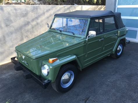 volkswagen thing 1974 volkswagen thing for sale on bat auctions sold for