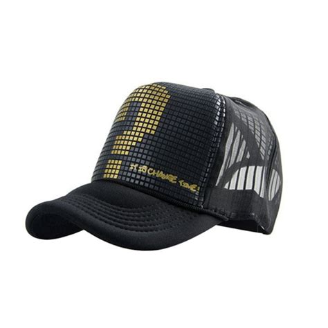 Trucker Hat Jaring Pause Imbong summer golf mesh hat sports trucker visor adjustable snapback baseball cap us296