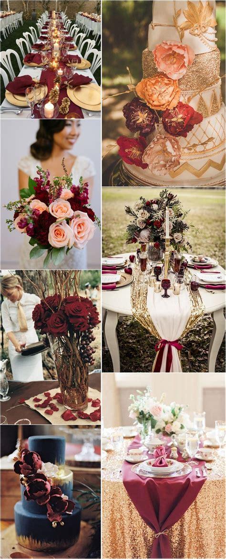 22 burgundy and gold fall wedding ideas wedding ideas fall wedding wedding