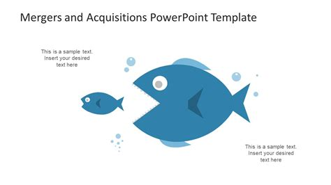 Merger And Acquisition Mba Ppt by Acquisition Powerpoint Of Fish Illustration Slidemodel