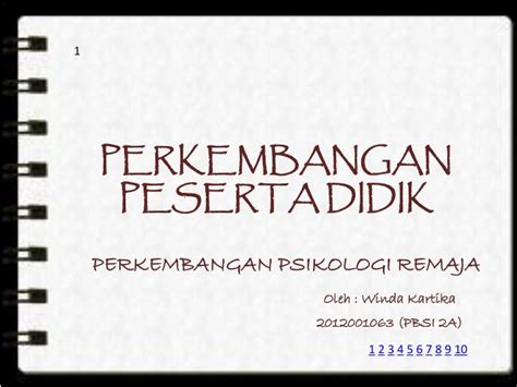 Psiklogi Perkembangan Peserta Didik ppt perkembangan peserta didik powerpoint presentation id 2273589