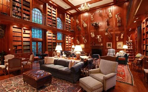 library in house luxury homes with libraries for sale fireplaces the